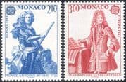 Monaco 1985 Europa/ Music/ Prince Antoine I/ Jean-Baptiste Lully/ Composers/ Royalty/ People/ Musicians 2v set (n43987)