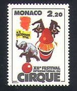 Monaco 1986 Circus  /  Clowns  /  Festival  /  Elephants  /  Animals  /  Animation 1v (n32799)