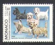 Monaco 1986 Scotch Terrier  /  Dogs  /  Animals  /  Nature  /  Pets 1v (n34741)
