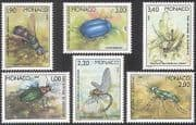 Monaco 1987 Beetles  /  National Park  /  Insects  /  nature  /  Conservation 6v set (n38193a)