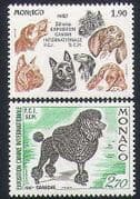Monaco 1987 Poodle  /  Alsation  /  Dogs  /  Animals  /  Nature  /  Pets 2v set (n35026)