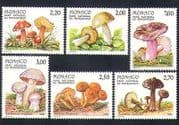 Monaco 1988 Fungi  /  Mushrooms  /  Nature  /  Mercantour National Park 6v set (n33859)