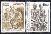Monaco 1988 Nain  /  Chirico  /  Artists  /  Paintings  /  Art  /  Sculpture  /  People 2v set (n38963)