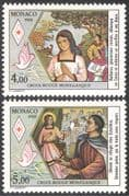 Monaco 1988 Red Cross/ Medical/ Health/ Welfare/ Saint Devote 2v set (n31466)