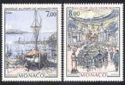 Monaco 1989 Boat  /  Harbour  /  Transport  /  Casino  /  Building  /  Art  /  Lighthouse 2v set n38860