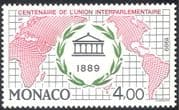 Monaco 1989 Interparliamentary Union Centenary/ 100th/ Maps/ Politics/ People 1v (n43182)