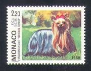 Monaco 1989 Yorkshire Terrier  /  Dogs  /  Animals  /  Nature  /  Pets 1v (n35022)