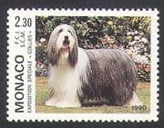 Monaco 1990 Bearded Collie  /  Dogs  /  Animals  /  Nature  /  Pets 1v n34359
