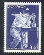 Monaco 1990 Clown  /  Pierrot  /  Mechanical Toys  /  Writing 1v (n35177)