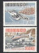 Monaco 1990 Helicopters  /  Aircraft  /  Aviation  /  Transport  /  Flight 2v set (n34344)