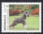 Monaco 1991 Dog  /  Schnauzer  /  Animals  /  Nature  /  Pets 1v (n18676)