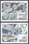 Monaco 1991 Europa/ INMARSAT/ EUTELSAT/ Space/ Satellites/ Radio/ Ships/ Communications/ Telecomms 2v set (n32627)