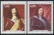 Monaco 1991 King Louis  /  Prince Honore  /  Art  /  Paintings  /  Royalty  /  Royal 2v set (n40288)
