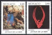 Monaco 1991 Marine Life  /  Corals  /  Nature  /  Sealife  /  Fish 2v set (n20592)