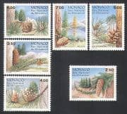 Monaco 1991 Mercantour National Park  /  Trees  /  Conifers  /  Plants  /  Nature 6v set n34427