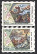 Monaco 1991 Red Cross  /  Medical  /  Health  /  Welfare  /  St Devote  /  Boat  /  Dove 2v set (n39341)
