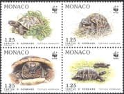 Monaco 1991 WWF/ Tortoise/ Animals/ Nature/ Wildlife/ Conservation 4v blk (n33797)