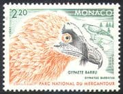 Monaco 1992 Lammergeier/ Birds/ Raptors/ Nature/ National Parks/ Wildlife 1v (n31816)