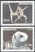 Monaco 1993 Europa/ Ballet/ Sculpture/ Dance/ Dancers/ Sculptor/ Arts/ Artists/ Music/ Dancing 2v set (n34422)