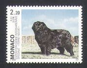 Monaco 1993 Newfoundland  /  Dogs  /  Animals  /  Nature  /  Pets 1v n34721