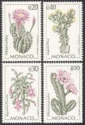 Monaco 1994 Cactus/ Cacti/ Plants/ Nature/ Flowers 4v set (n41504)