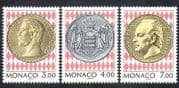 Monaco 1994 Coins  /  Portraits  /  Royalty  /  Coat-of Arms 3v set (n21297)