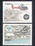 Monaco 1994 Helicopters/ Aviation/ ICAO/ Aircraft/ Transport/ Flight 2v set (n35175)