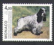Monaco 1995 American Cocker Spaniel  /  Dogs  /  Animals  /  Nature  /  Pets 1v (n34739)