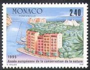 Monaco 1995 Conservation Year/ Buildings/ Park/ Harbour/ Nature/ Trees 1v (n41521)