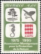 Monaco 1995 Nature Protection Association/ Bird/ Seahorse/ Tree/ Conservation 1v (n40587)