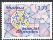 Monaco 1995 Special Olympics/ Paralympic Games/ Sports/ Disabled/ Health/ Emblem 1v (n40772)