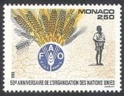 Monaco 1995 United Nations  /  UN  /  FAO  /  Freedom From Hunger  /  FFH  /  Wheat  /  Crops 1v n40770