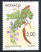 Monaco 1996 Bellflower  /  Carob  /  Flowers  /  Fruit  /  Plants  /  Nature 1v (n40160)