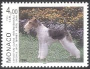 Monaco 1996 White-haired Fox Terrier/ Dog Show/ Dogs/ Animals/ Nature/ Pets 1v (n18678)