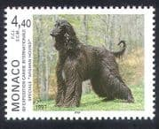 Monaco 1997 Afghan Hound  /  Dogs  /  Animals  /  Nature  /  Pets 1v (n34718)