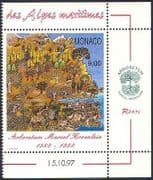 Monaco 1997 Arboretum  /  Trees  /  Plants  /  Nature  /  Waterfall  /  Conservation 1v (n40365)