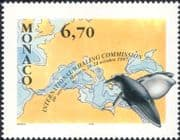 Monaco 1997  Blue Whales/ Whaling Commission/ Map/ Marine/ Nature/ Wildlife  1v (n11160)