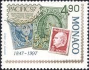 Monaco 1997  Pacific '97 Stamp Exhibition/ Stamp-on-Stamp/ StampEx/ S-on-S/ Royalty 1v (mc1189)