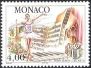 Monaco 1998 Ballet Dancer/ Violin/ Piano/ Music Score/ Dance/ Festival 1v (n40581)