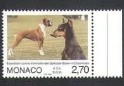 Monaco 1998 Doberman  /  Boxer  /  Dogs  /  Animals  /  Nature  /  Pets 1v (n34738)