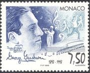 Monaco 1998 George Gershwin/ Composer/ Music/ Dance/ Trumpet/ Entertainment 1v (n40573)