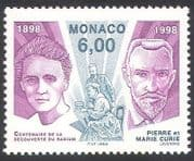 Monaco 1998 Marie Curie  /  Radium  /  Medical  /  Health  /  Cancer  /  Science  /  Chemistry 1v n40506