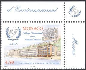 Monaco 1998 Marine Pollution College/ Laboratory/ Buildings/ Architecture/ Environment/ Conservation 1v (n43538)