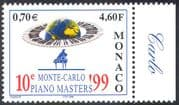 Monaco 1999 Music Competition/ 10th Piano Masters/ Keyboard/ Globe 1v (n41427)
