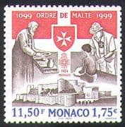 Monaco 1999 Order of Malta/ Castle /Maltese Cross/ Knights/ Health/ Welfare 1v n38444