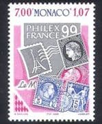 Monaco 1999 StampEx  /  Stamp-on-Stamp  /  Philately  /  Animation 1v (n38856)