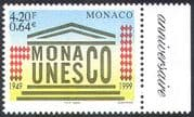 Monaco 1999 UNESCO 50th Anniversary of Admission/ UN/ Animation/ Buildings/ Education/ Science 1v n41437