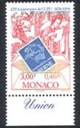 Monaco 1999 UPU Anniversary  /  Letter  /  Post  /  Mail  /  Emblem  /  Art  /  Drawing 1v (n38575)