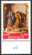 Monaco 2000 Christmas/ Greetings/ Nativity/ Crib Figures/ Sheep/ Donkey 1v (n41494)