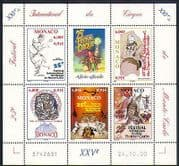 Monaco 2000 Circus  /  Clowns  /  Cycling  /  Music  /  Tiger  /  Horses  /  Lion  /  Animals 5v m  /  s  n31923